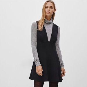 Aritzia suede jumper dress